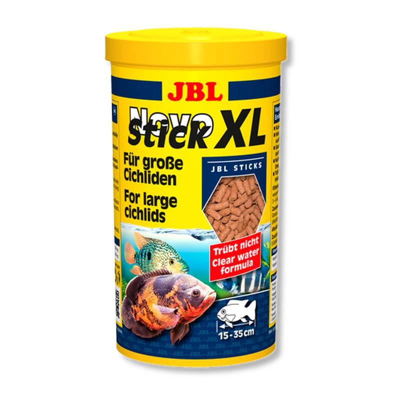 JBL NOVOSTICK XL granulált akváriumi haltáp nagytestű sügerek részére.