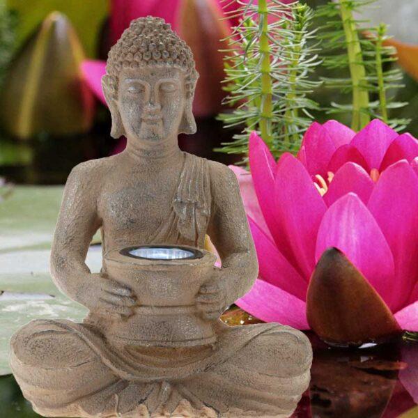 Buddha szobor napelemes